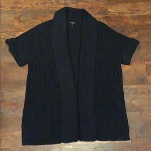 Ann Taylor navy short sleeved cardigan